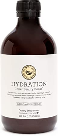 The Beauty Chef   Hydration Inner Beauty Boost (16.9oz, 500ml)   Elixir for Dry Skin & Digestive Health   with Coconut Water, Green Tea Leaf Extract, Sea Minerals, Finger Lime, Cucumber Water