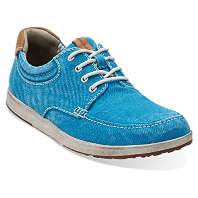 721274ba63d84 Clarks Mens Norwin Vibe Aqua Canvas 8 M: Amazon.co.uk: Shoes & Bags