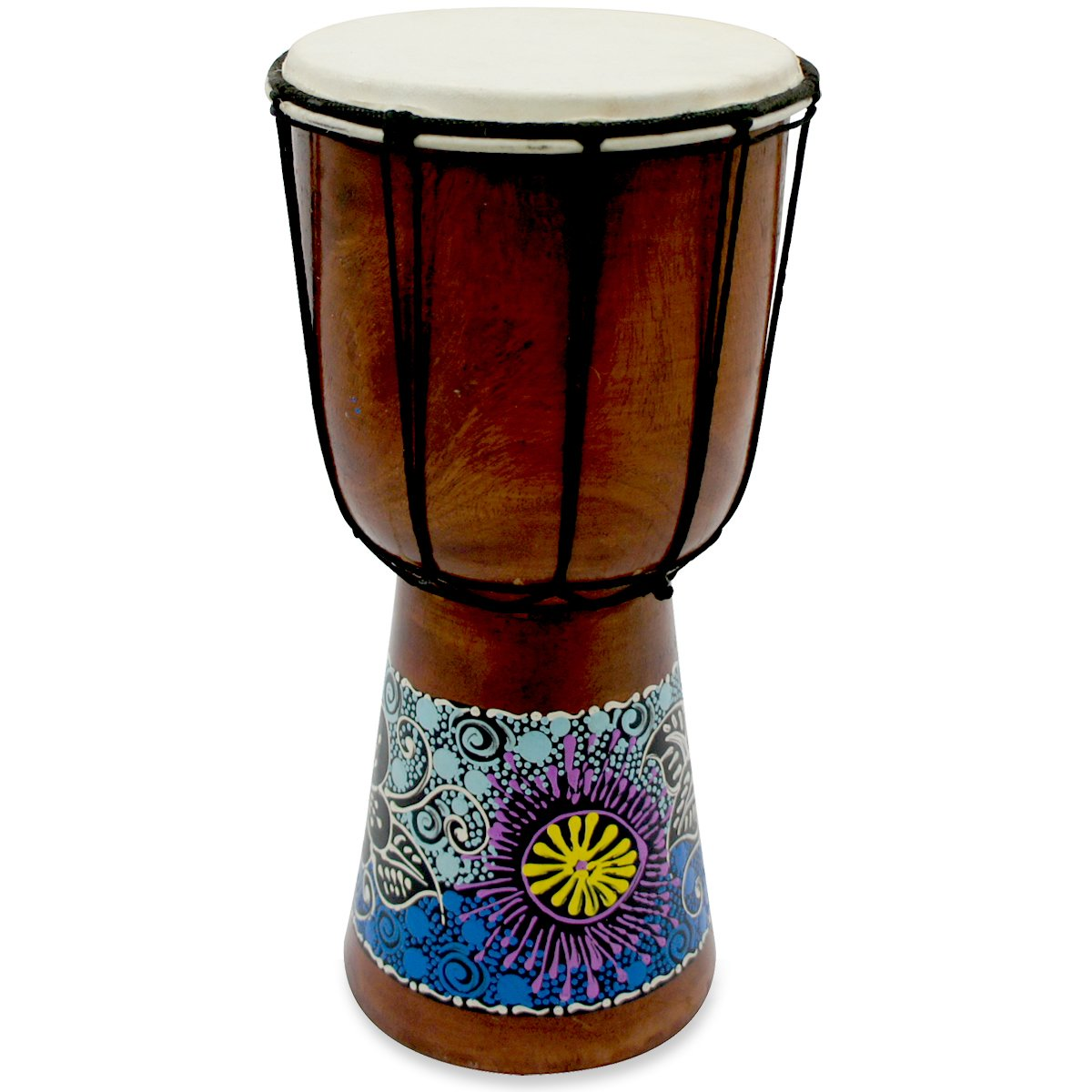8'' Wooden Djembe Doumbek Darbuka Hand Drum Egyptian Design - Pattern May Vary by WOOGEES