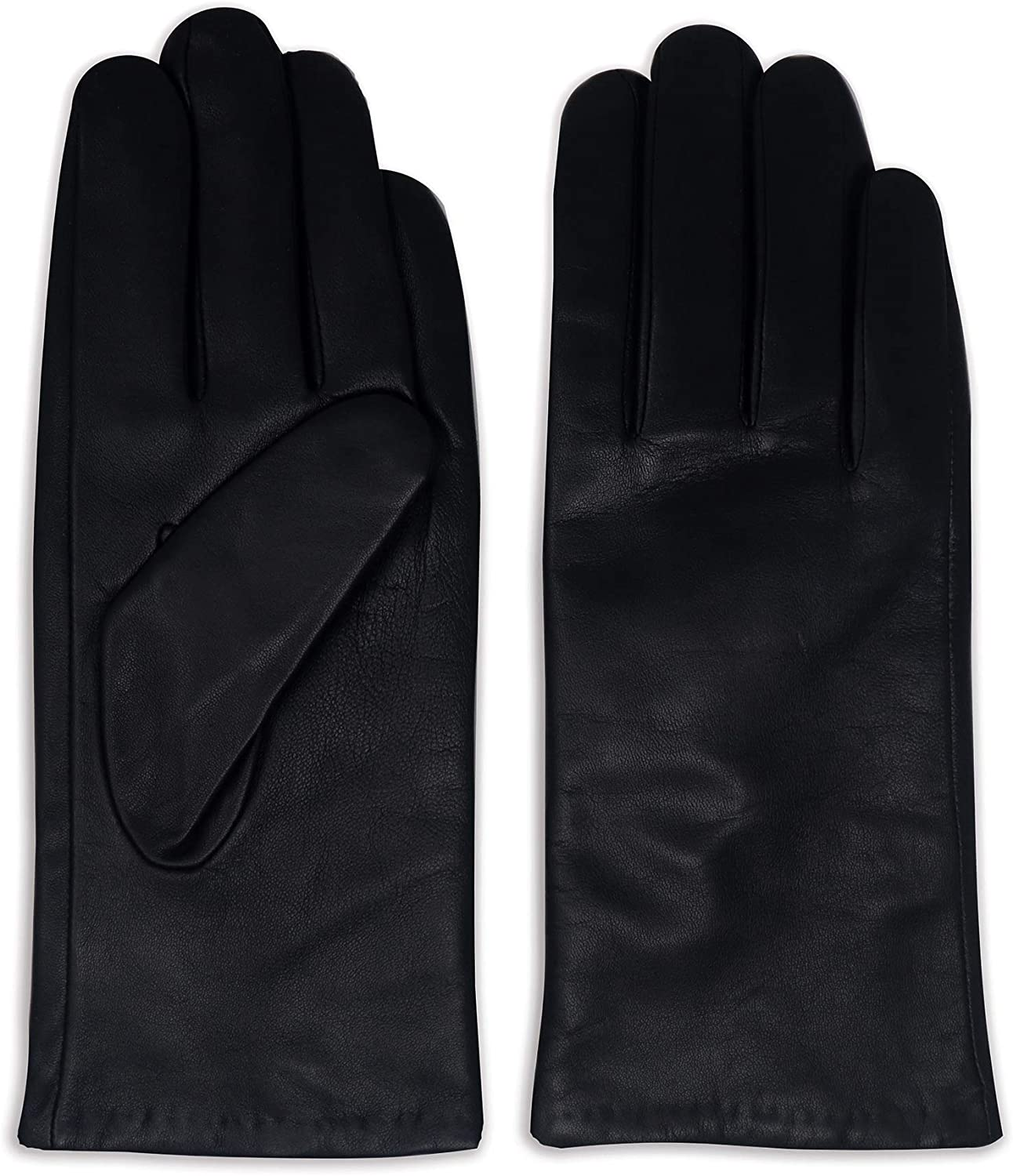 Women's Luxuriously Soft Leather Colorful Fashion Dress Gloves with Cashmere Wool Lining