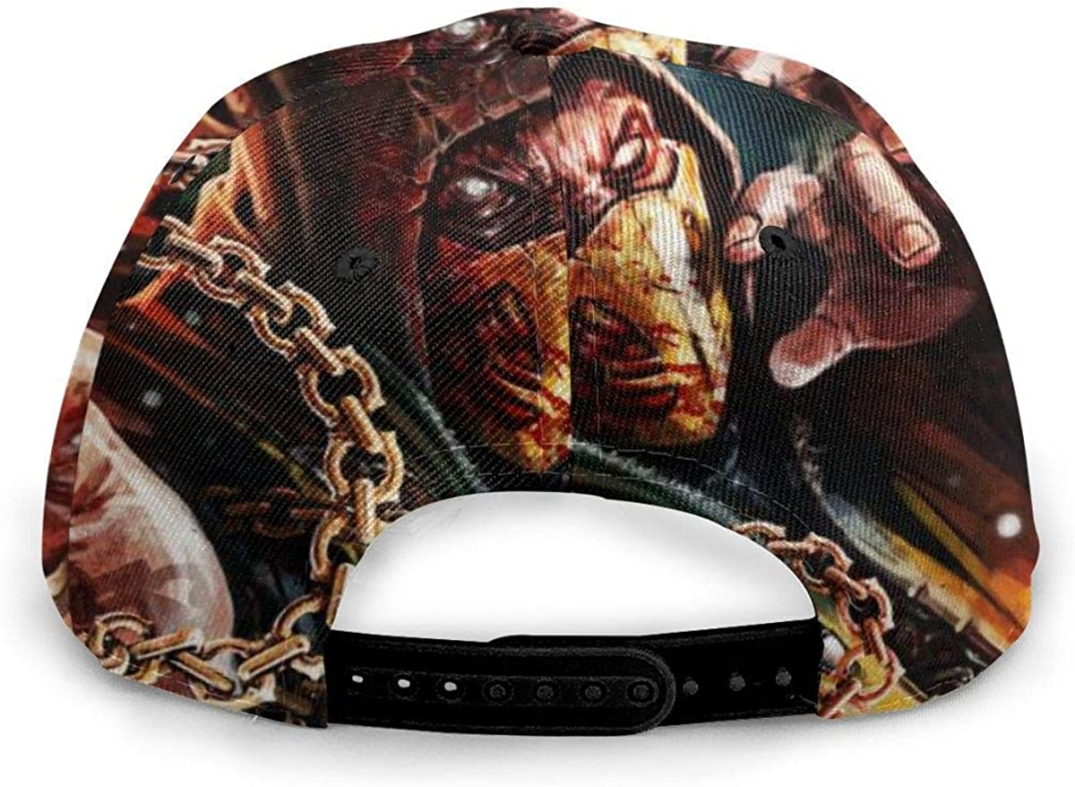 Sports DAWN/&ROSE Mortal Kombat X Scorpion Baseball Cap Polyester Comfortable Water-Resistant Dad Cap,Made Adjustable Fits Men Women Daily Party Use Black Outdoor