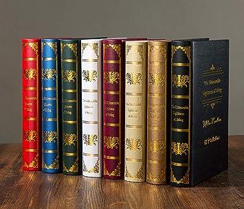 STSJSI Decoración de libros falsos Libro de accesorios de ...