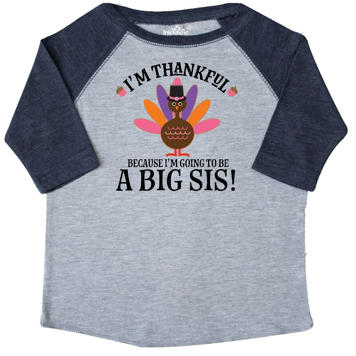 inktastic Thanksgiving Big Sis Announcement Turkey Toddler T-Shirt