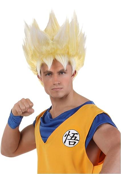 funcostumes adultos peluca super Saiyan Goku - Amarillo -: Amazon.es: Ropa y accesorios