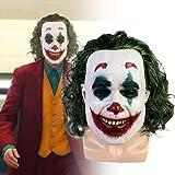 2019 Movie Joker Cosplay Mask Horrible Clown Mask with Wigs Costume Helmet ジョーカー マスク コスプレ Clown マスク キャット マスク コスチューム ヘルメット 夏 秋 祭 盆 踊り ハロウィン 肝試し クリピエロ 道化役者 スマス お面 仮面 ジョーカー コスプレ 仮装 変装 パーティー イベント 宴会 に JOKER 2019スマス