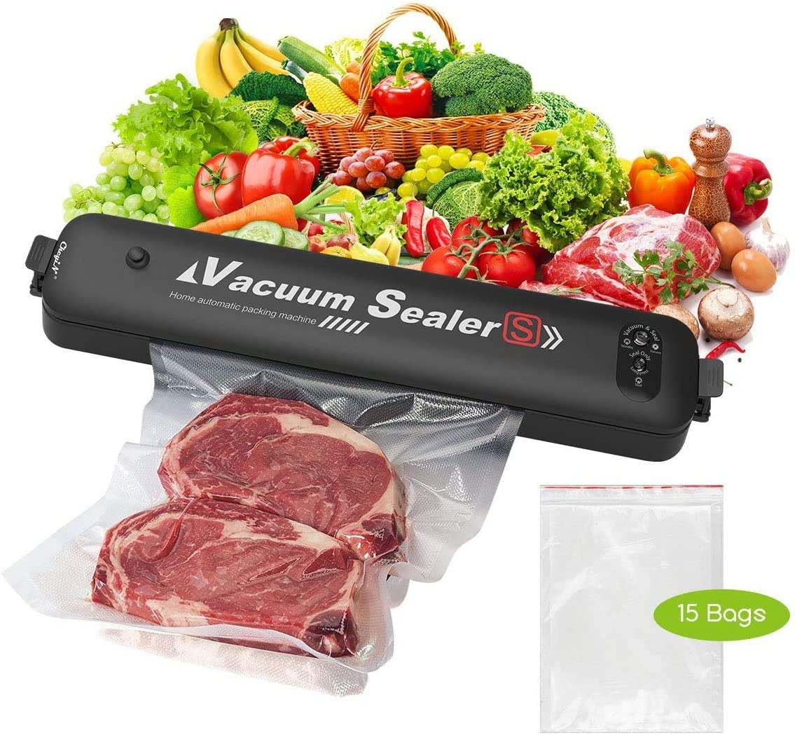 Vacuum Sealer, Automatic Food Sealer Machine for Food Preservation, Compact and Easy Clean, Started Kit for Home&Commercial