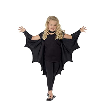 Smiffys Kids Unisex Vampire Bat Costume, Wings, Black, One Size, 44414: Toys & Games