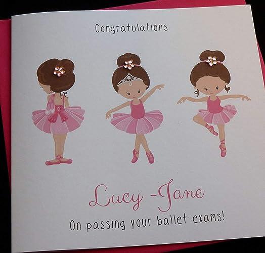 Personalised Ballet Dance Birthday Card Children/'s Card Daughter Granddaughter