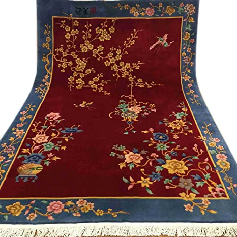 Chinese Hand Knotted Wool Rugs.Amazon Com Yilong 1 6x2 4m Art Deco Chinese Hand Knotted
