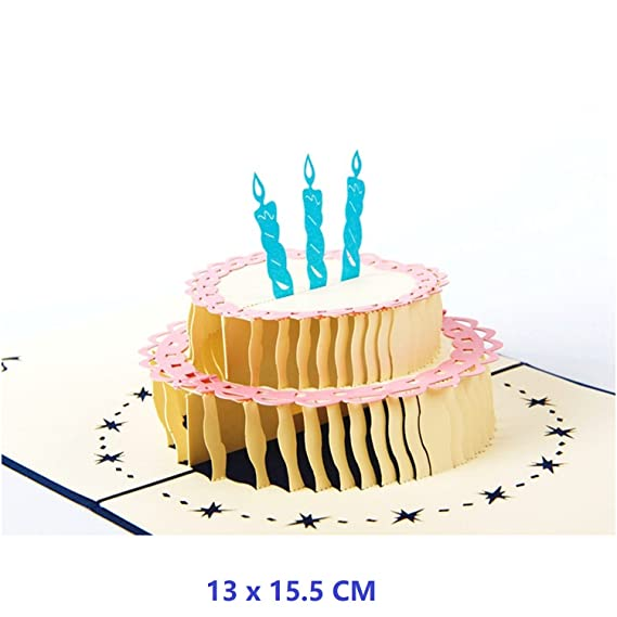 Amazon Nacodex Happy Birthday Cake 3d Pop Up Greeting Card