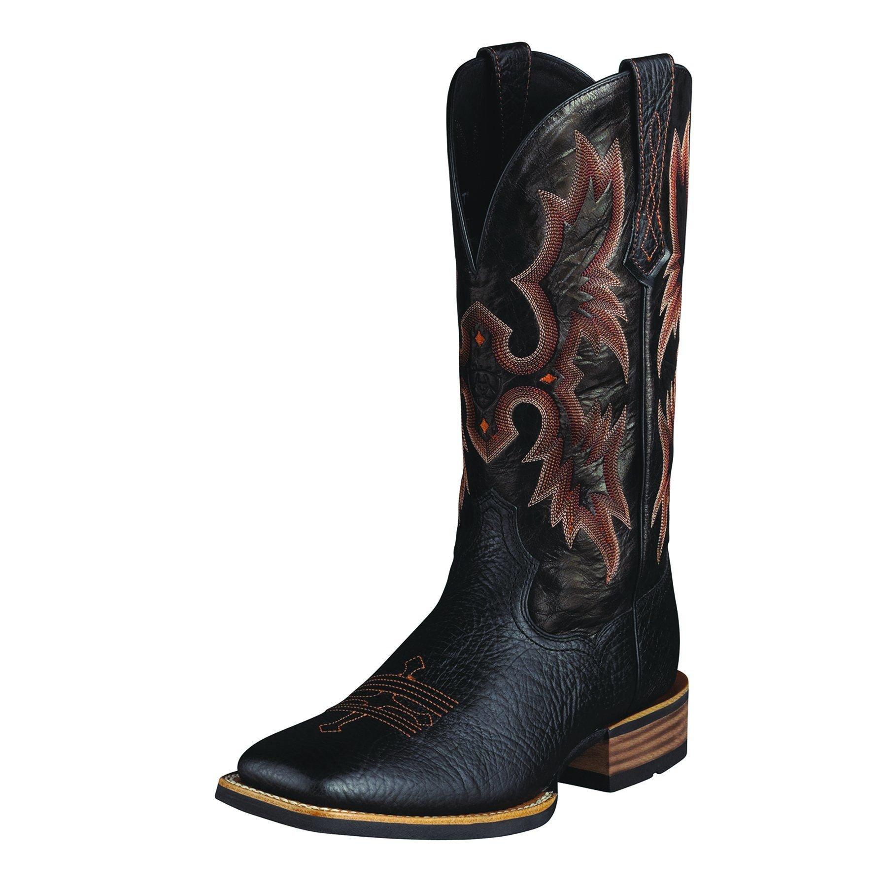 Ariat Men's Tombstone Western Boot, Black/Black, 10.5 D US