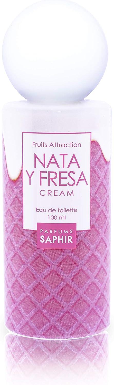 PARFUMS SAPHIR  Fruit Attraction Nata y Fresa Cream Eau de Toilette para Mujeres - 100 ml