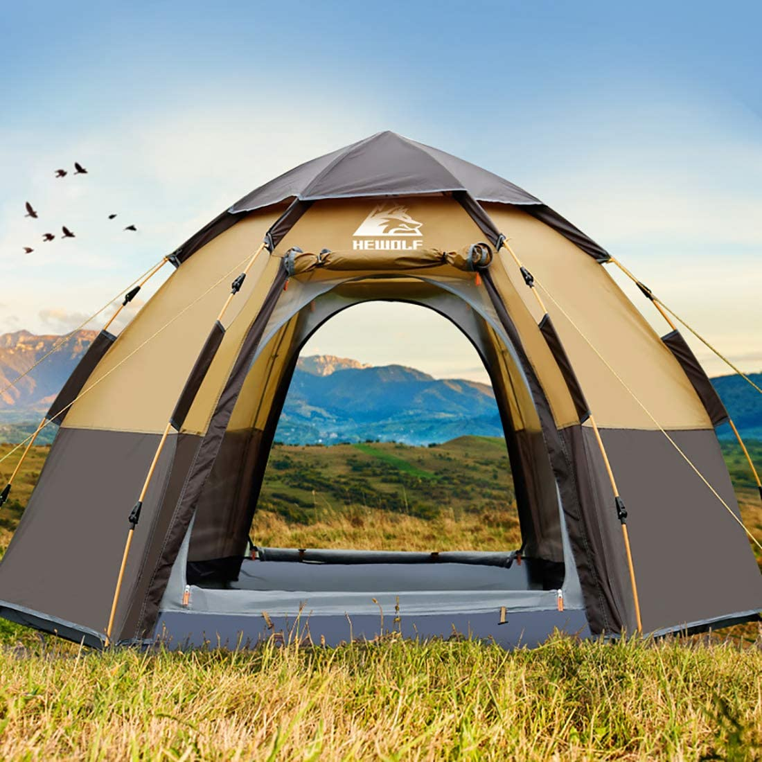 Family Camping Tent Waterproof Large – 8 Person Tent Portable Automatic Tent 118 94
