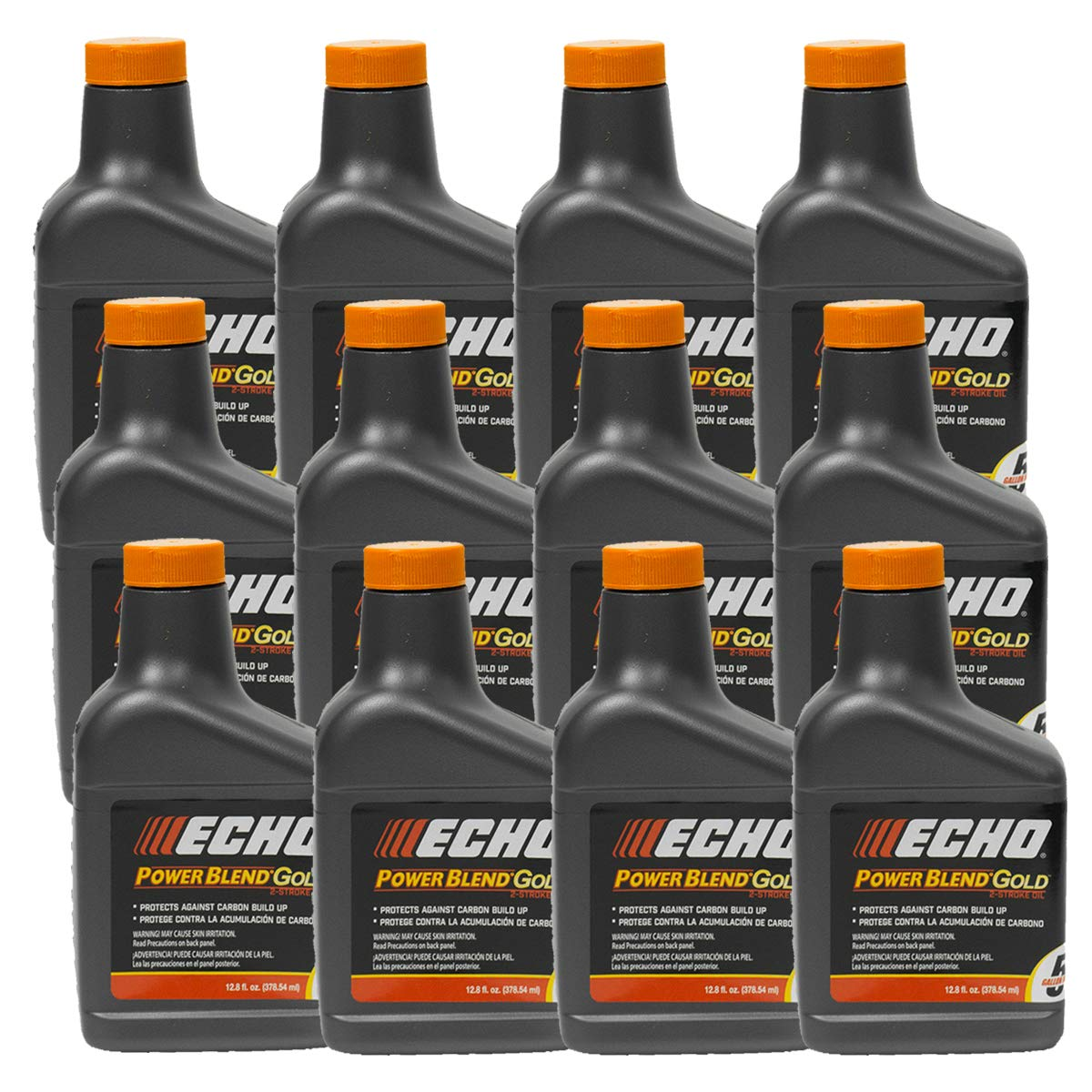 Replaces Echo 12PK Echo Oil 12.8 oz Bottles 2 Cycle Mix for 5 Gallon - Power Blend 6450005 by Replaces Echo