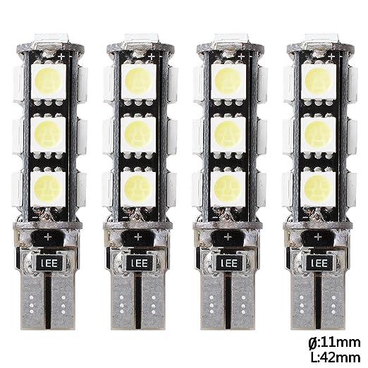 35 opinioni per 4x Lampadine T10 W5W 194 13 SMD XENON CANBUS 5050 LED Auto luci posteriori Car