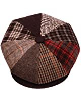 TitFus Mens Patchwork Wool Big Apple Duckbill Ivy Newsboy Irish Tweed Cap Hat