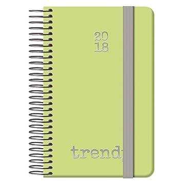 Dohe Gloss - Agenda 2018, día página, diseño Trendy, 9 x 14 cm, color verde