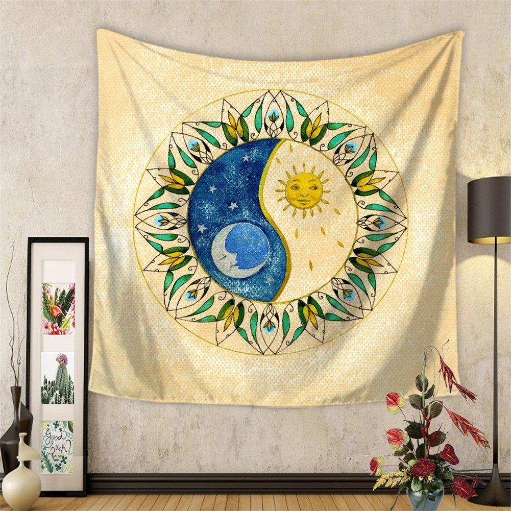 59 x 51 MANDALA Tapiz Colgante de pared Hippie Decoraci/ón de pared Mandela Cortina de ventana Cubierta de mesa Colcha Toalla de playa Tapiz Hyc20