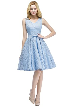 Babyonline Women Floral Lace Bridesmaid Party Dress Short Prom Dress ...
