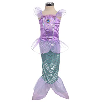 Girls' Princess Mermaid Fairy Tales Costume Cosplay