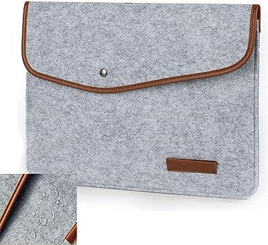 Light Grey 13 Inch Waterproof Felt Laptop Sleeve Case Bag Compatible MacBook Pro 13 2018//2017//2016//Microsoft New Surface Pro 2017//Surface Pro 4//3 13.3 Laptop Cover for iPad Pro 12.9