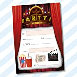 childrens kids birthday party invitations invites pack pads blank boys girls without envelopes cinema