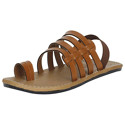 2782e9e49bfd8c Kraasa Men s Tan Outdoor Sandals - 6 UK  Buy Online at Low Prices in ...