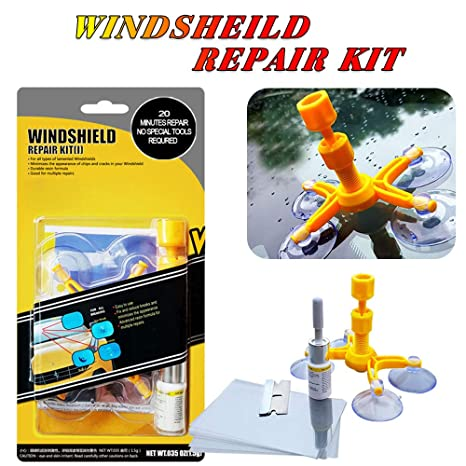 Windshield Repair Kit >> Yoohe Car Windshield Repair Kit Windshield Chip Repair Kit With Windshield Repair Resin For Fix Auto Glass Windshield Crack Chip Scratch