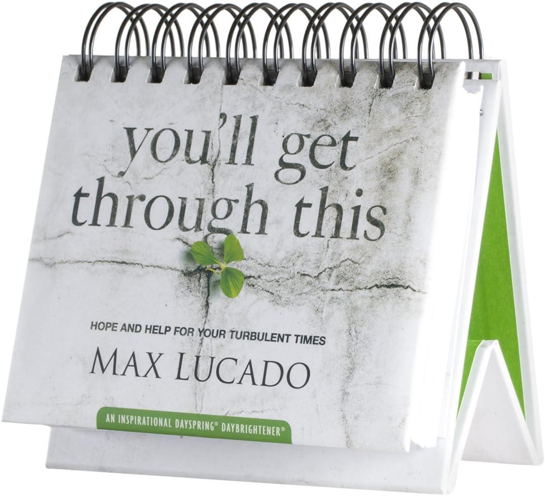 DaySpring Flip Calendar - Max Lucado - You'll Get Through This - 26083