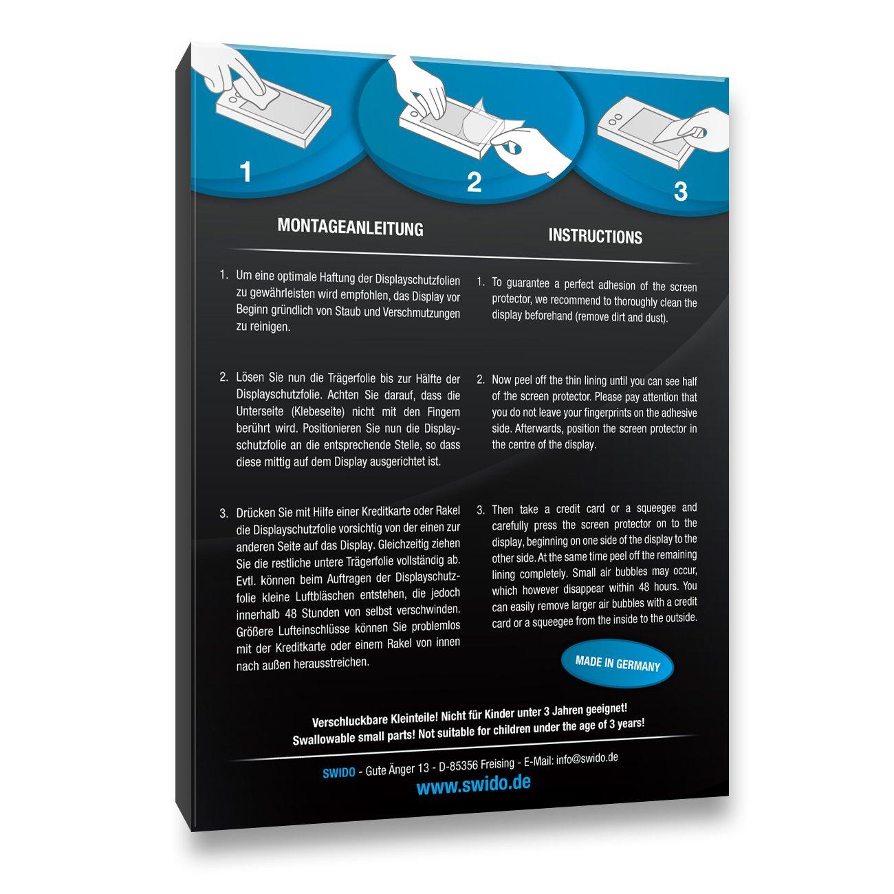 Schutz vor /Öl Displayschutz Kristall-Klar Panzerglas-Folie SWIDO Schutzfolie f/ür Garmin quatix 5 2 St/ück Displayschutzfolie Hoher H/ärtegrad Staub und Kratzer//Glasfolie