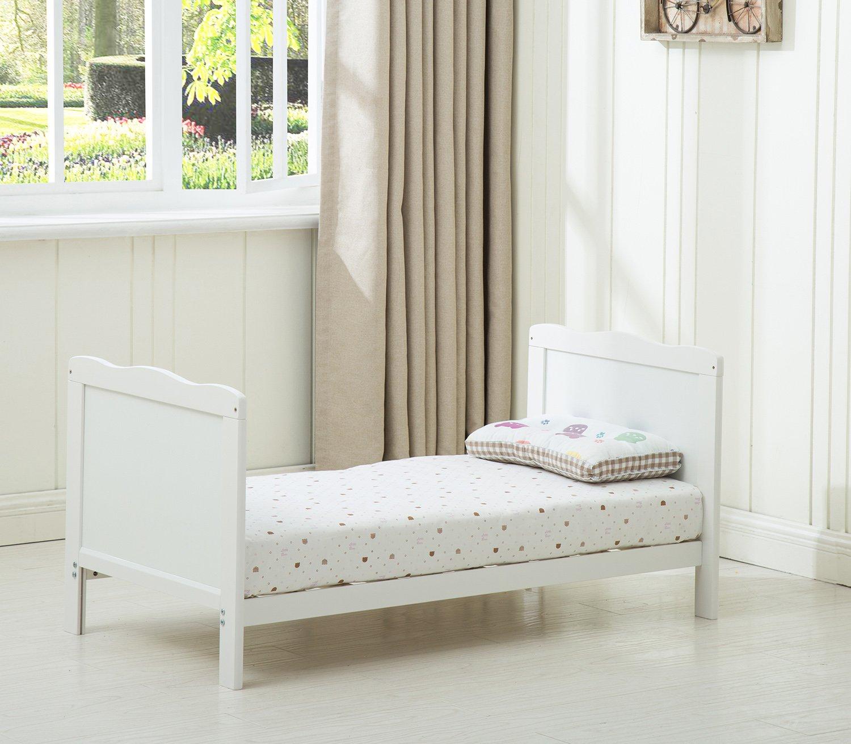 cama de madera color blanco Cuna con lados cama cuna para ni/ños con colch/ón repelente al agua Mcc/® Orlando