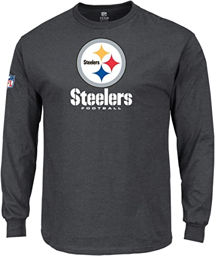 MAJESTIC our TEAM SHIRT-Pittsburgh Steelers Charcoal
