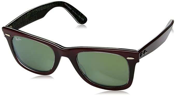 Amazon.com: Ray-Ban WAYFARER - TOP GRAD RED ON LIGHT RE Frame MIRROR ...
