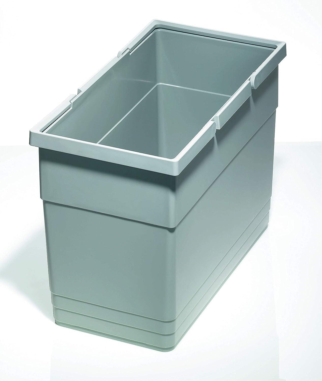 211/x 423/x 275/mm aluminio gris 5137.90.41616 Ronin Furniture Fittings/® Ninka Papelera valor pl/ástico 21/litros alto