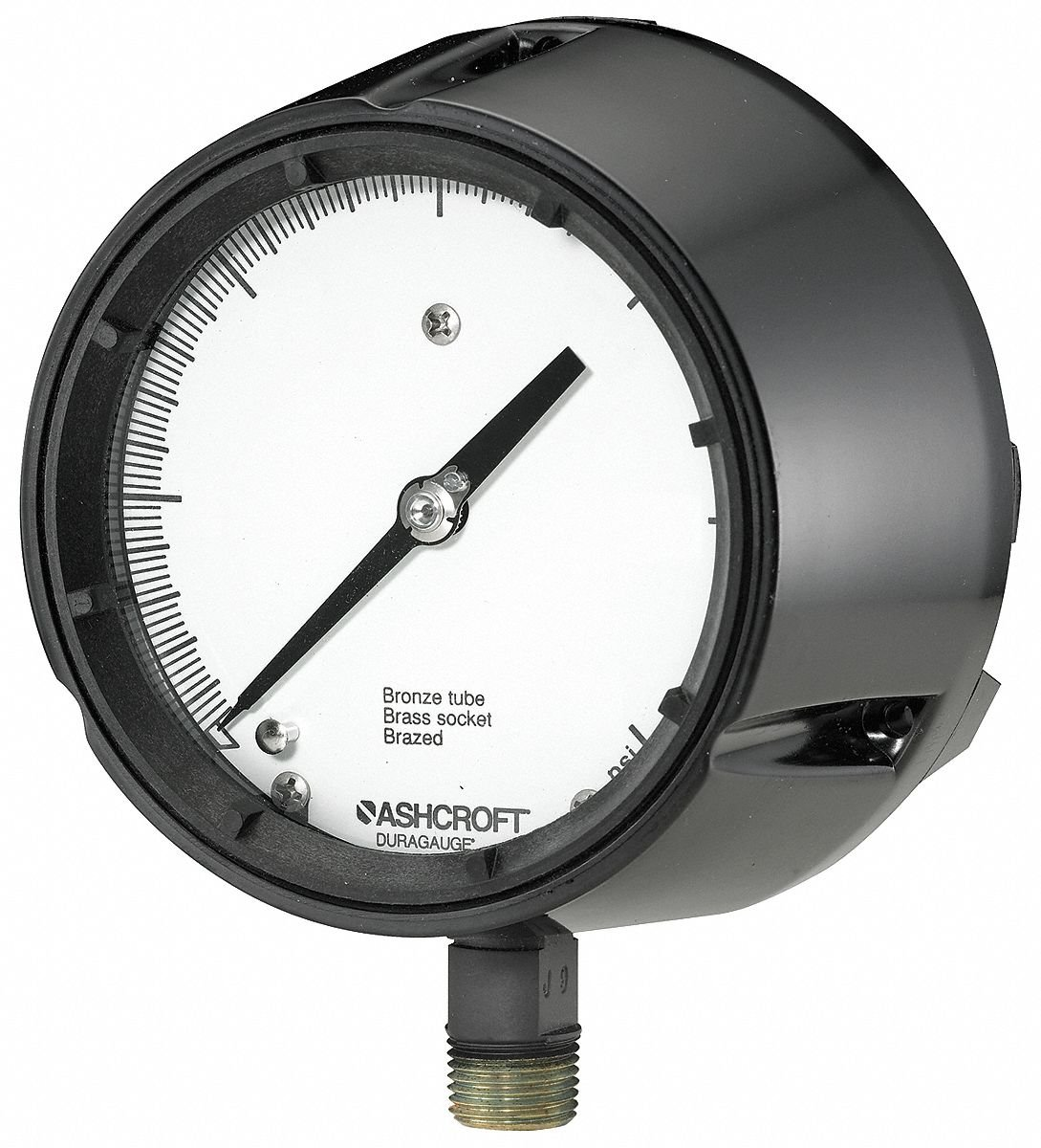 Ashcroft 4-1/2'' Process Pressure Gauge, 0 to 300 psi 451259SD04L300# - 1 Each