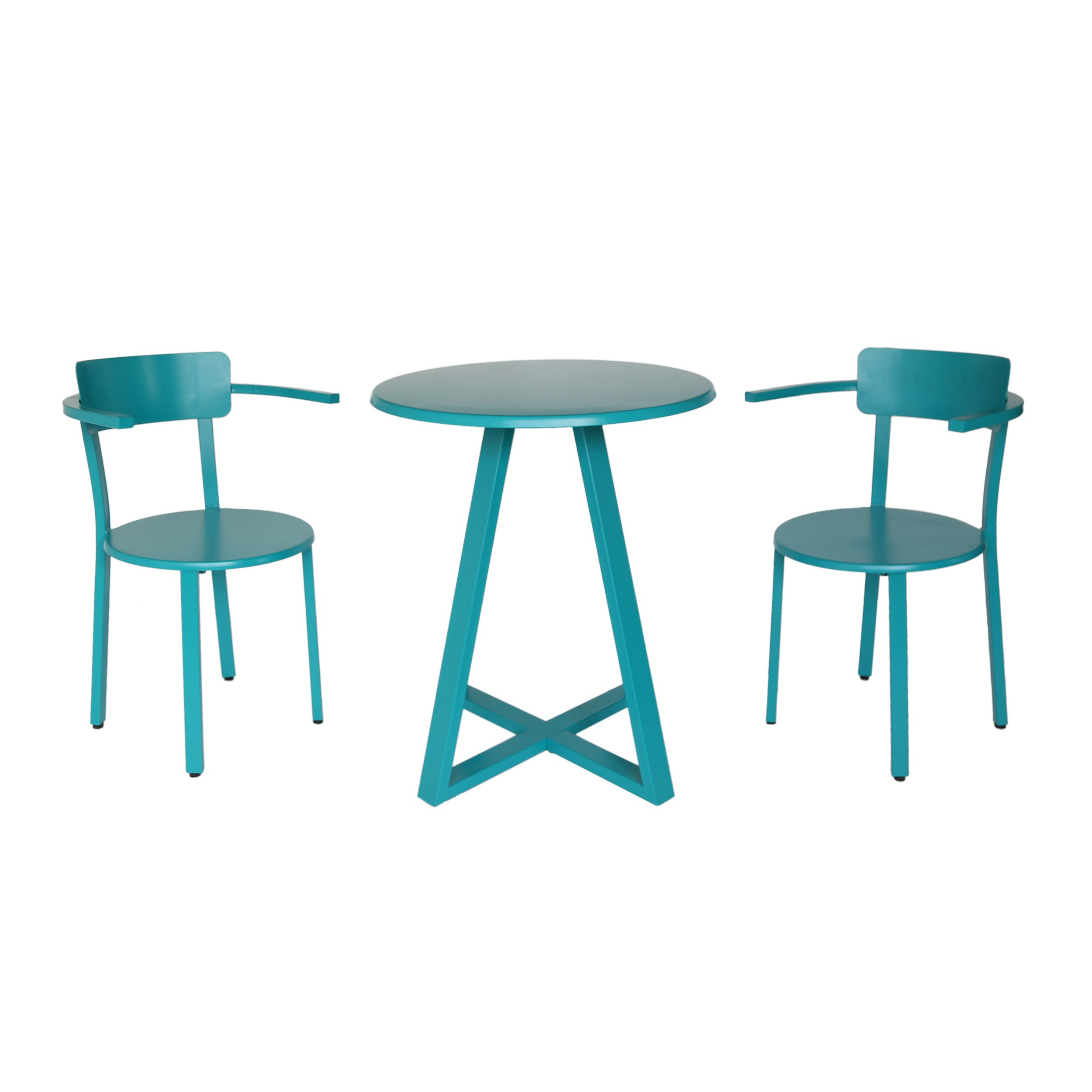 Great Deal Furniture Kate Outdoor Iron Bistro Set, Matte Teal by Great Deal Furniture (Image #7)