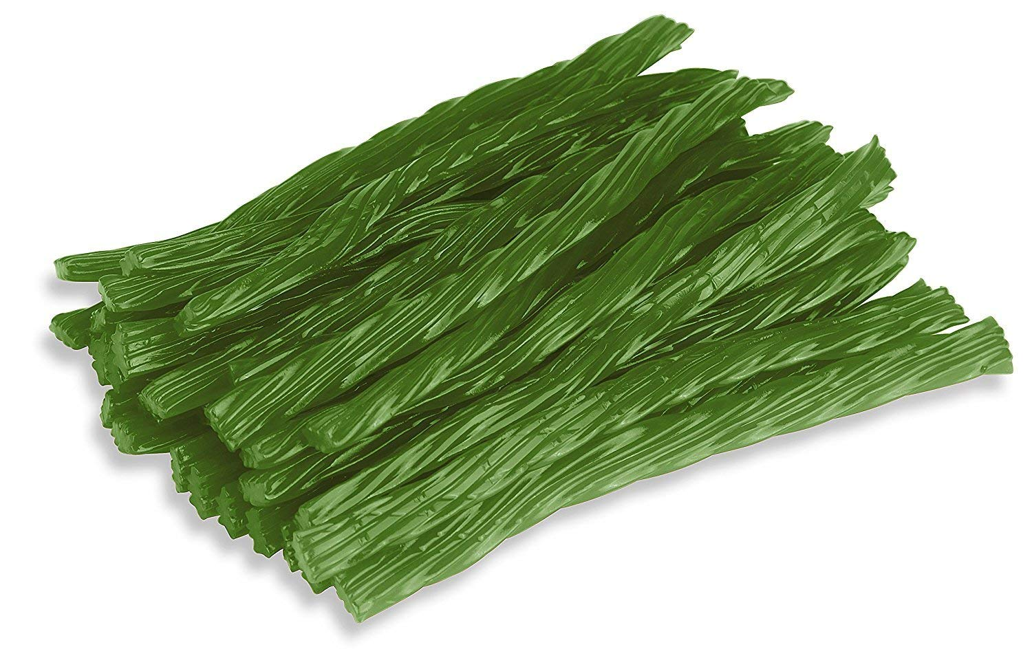 Happy Bites Green Apple Licorice Twists - Certified Kosher - Gourmet - Low Fat - Made with Real Fruit Juice - 1 Pound Bag (16 oz)