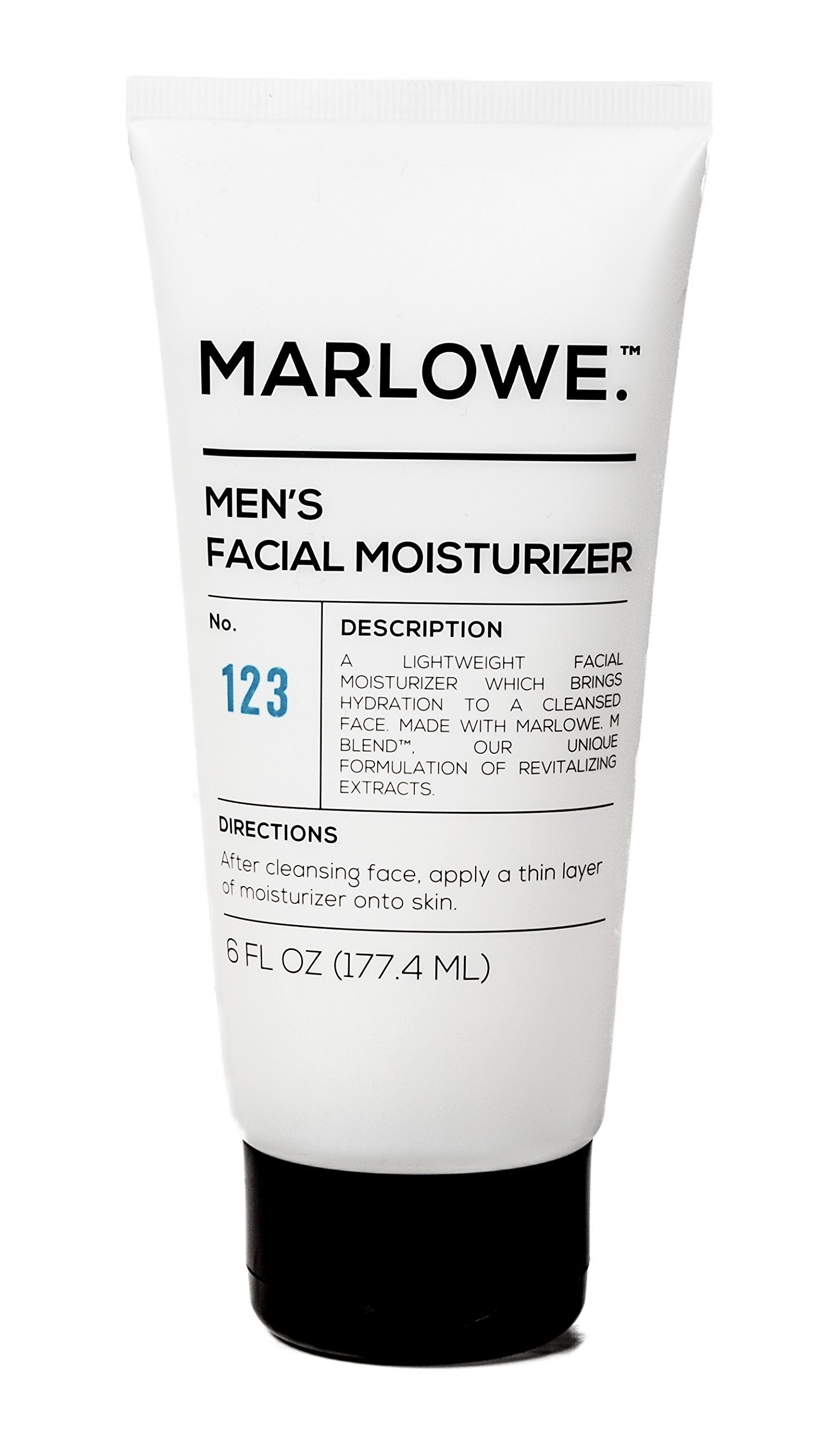 MARLOWE. No. 123 Men's Facial Moisturizer 6 oz | Lightweight Daily Face Lotion for Men | Best for Dry or Oily Skin | Made with Natural Ingredients & Anti-Aging Extracts by MARLOWE. M BLEND