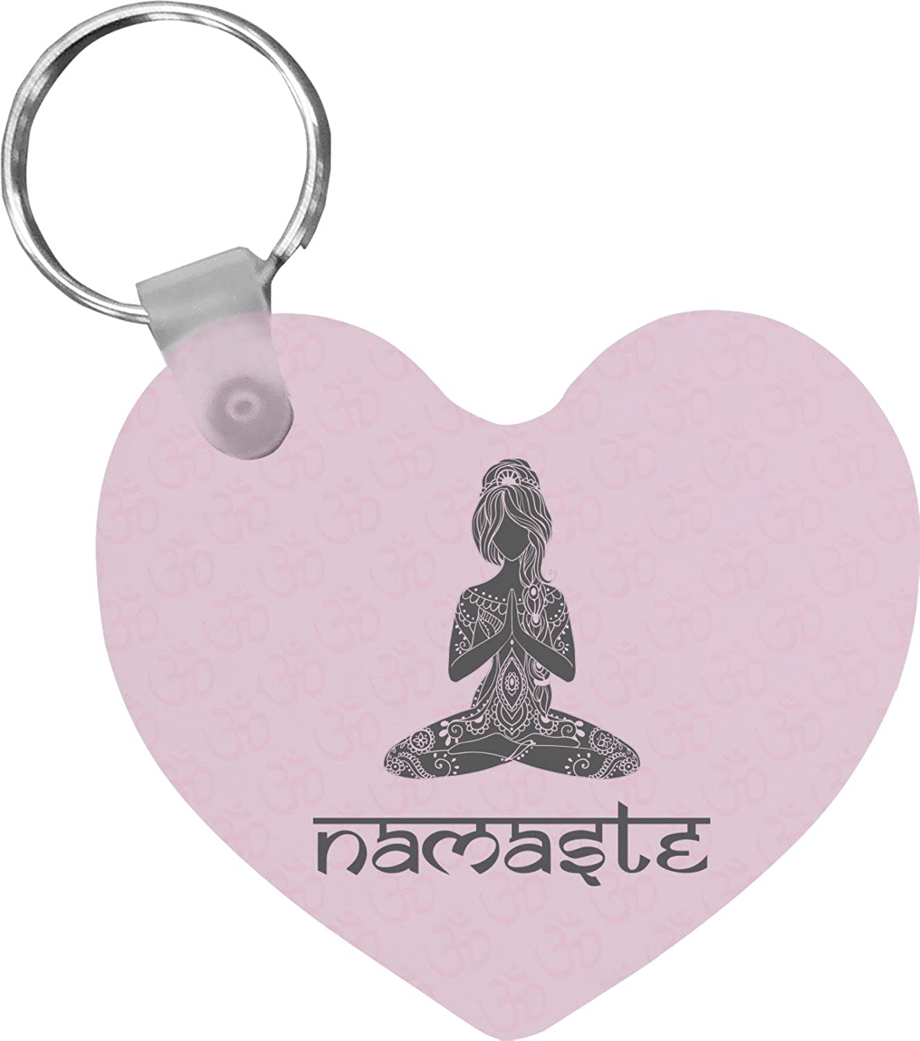 Lotus Pose Heart Keychain (Personalized)