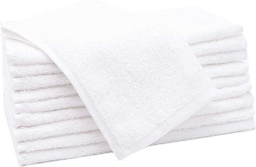 ZOLLNER 10 Toallas de tocador Blancas, 30x50 cm, algodón 100 ...
