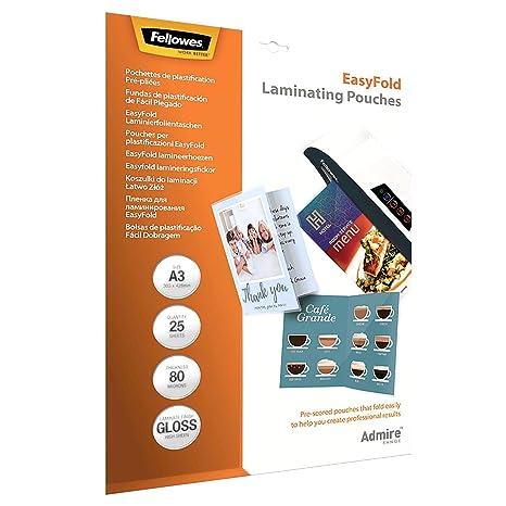 Amazon.com : Fellowes A3 80 Micron Admire EasyFold ...