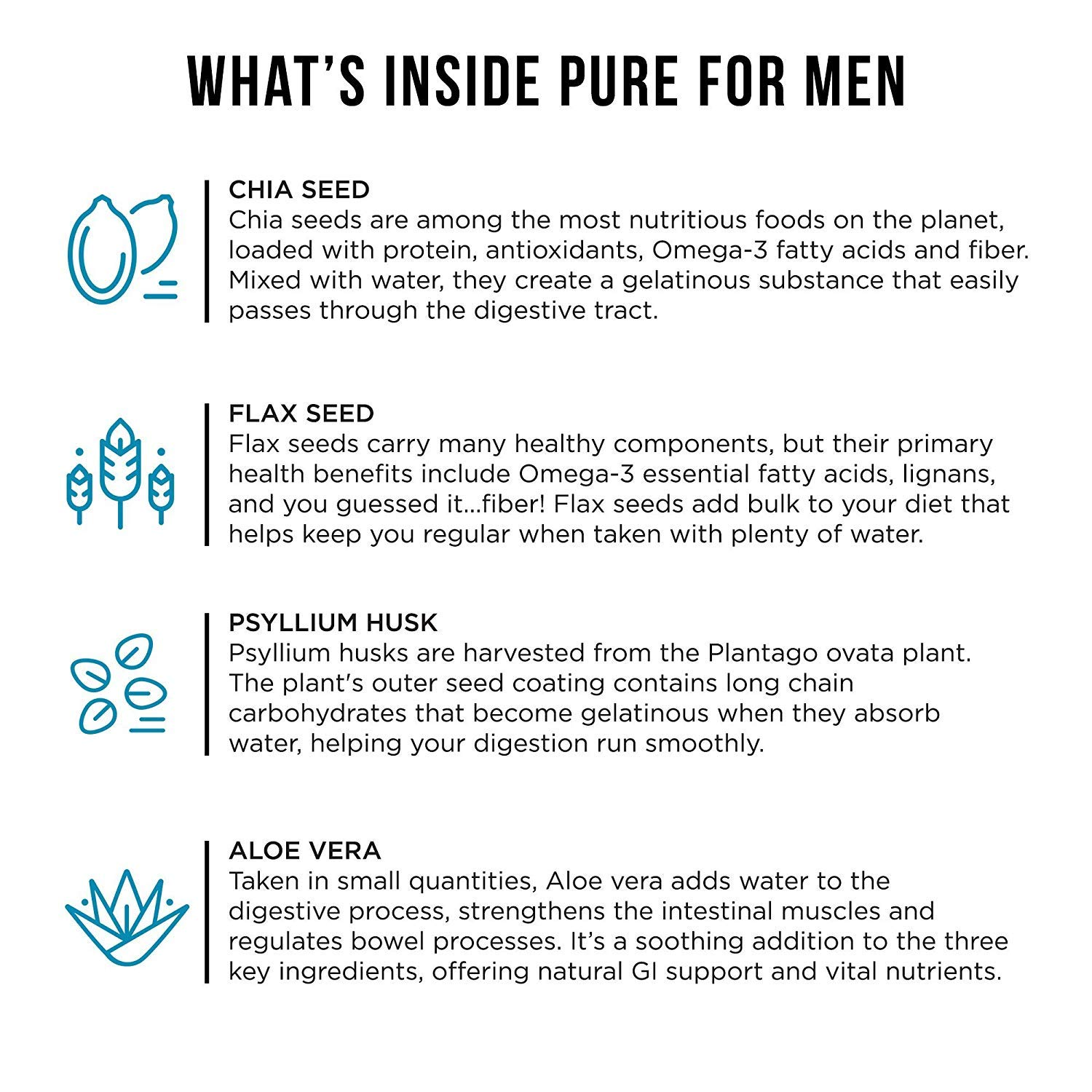 Pure for Men (120 Cápsulas Con Aloe): Amazon.es: Salud y cuidado personal