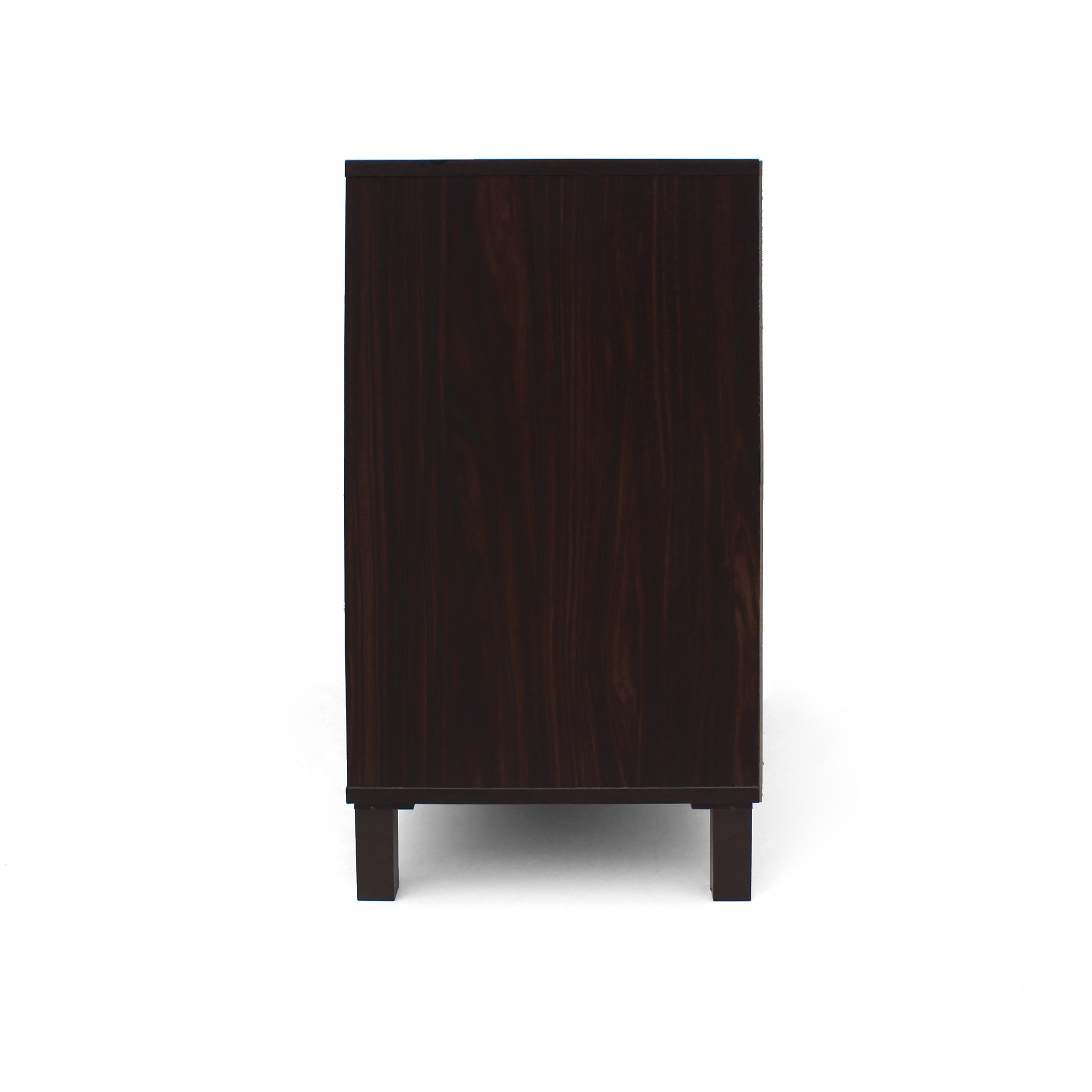 Provence 2-Shelf Walnut Finished Faux Wood Cabinet with Sanremo Oak Interior by Great Deal Furniture (Image #9)