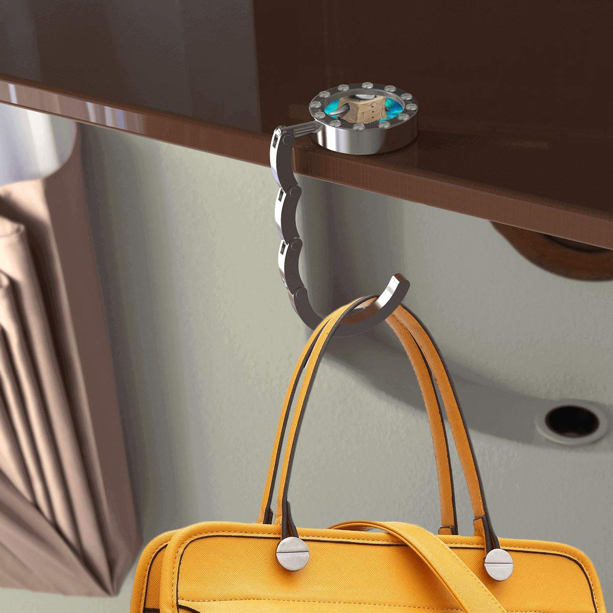 Convenient Stylish Suitable for Daily Use of Bag Hanger Round with drill Hamburg Bag Hanger for Women