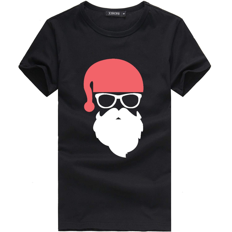 JERFER Hommes P/ère No/ël No/ël De f/ête Personnalis/é Marrant/T-Shirt Coton/Manche Courte T-Shirt Haut/Tees