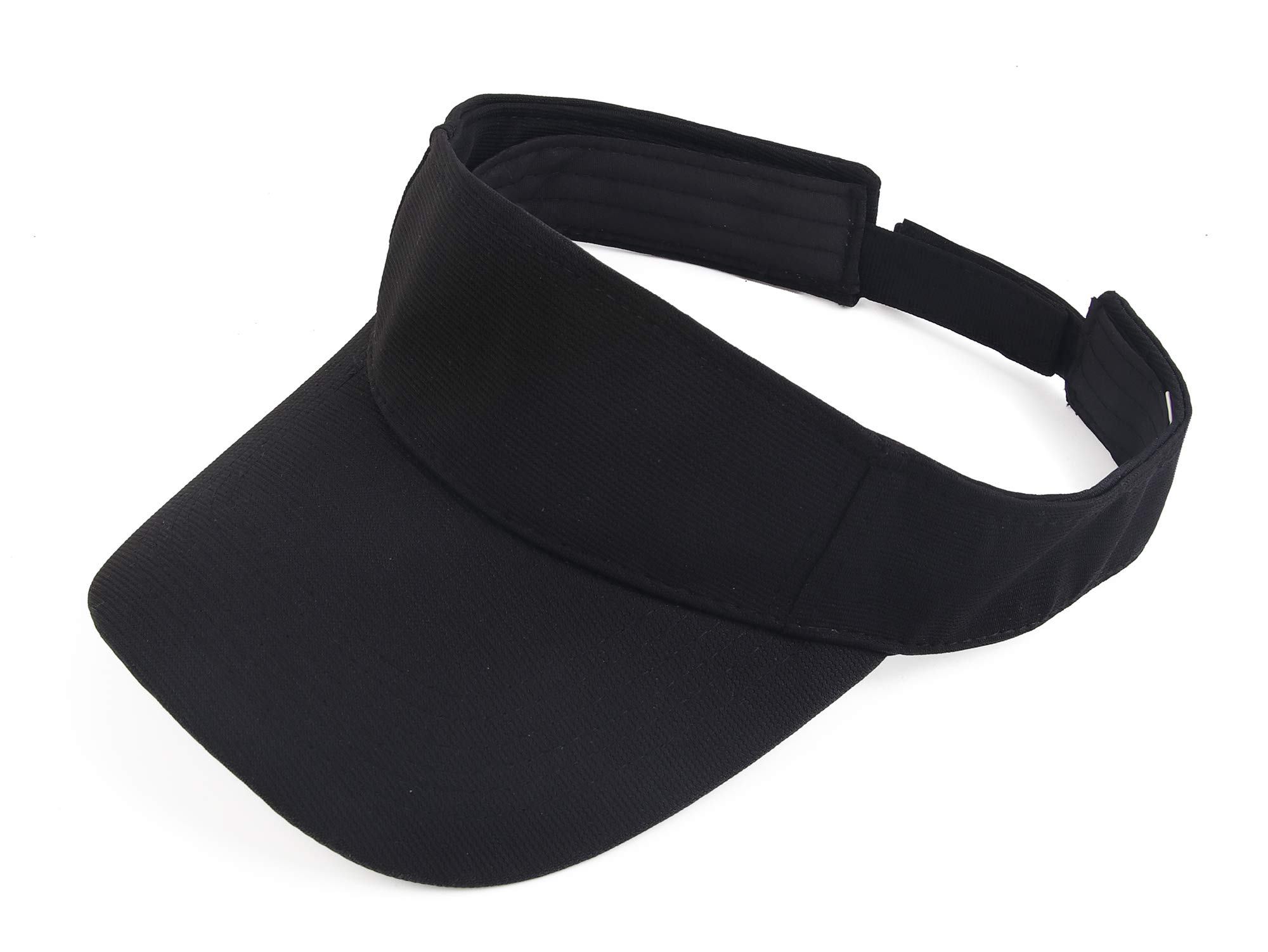 Melesh Plain Men Women Sport Headband Sun Visor Adjustable Athletic Sportswear Runing Outdoor Hat Cap