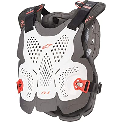 Alpinestars A-1 Plus Chest Protection X Large/XX Large White Anthracite Red: Sports & Outdoors