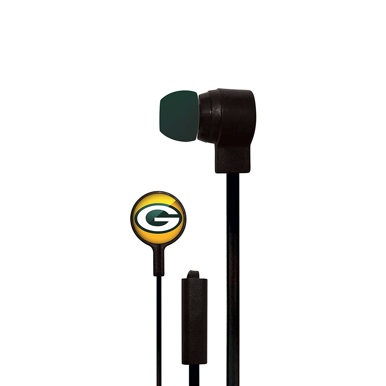 Mizco NFL Big Logo Black Cord Earbud