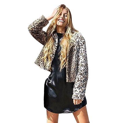 Amazon.com   Malbaba Fashion Womens Leopard Faux Fur Jacket Coat ... 1fd9db33c