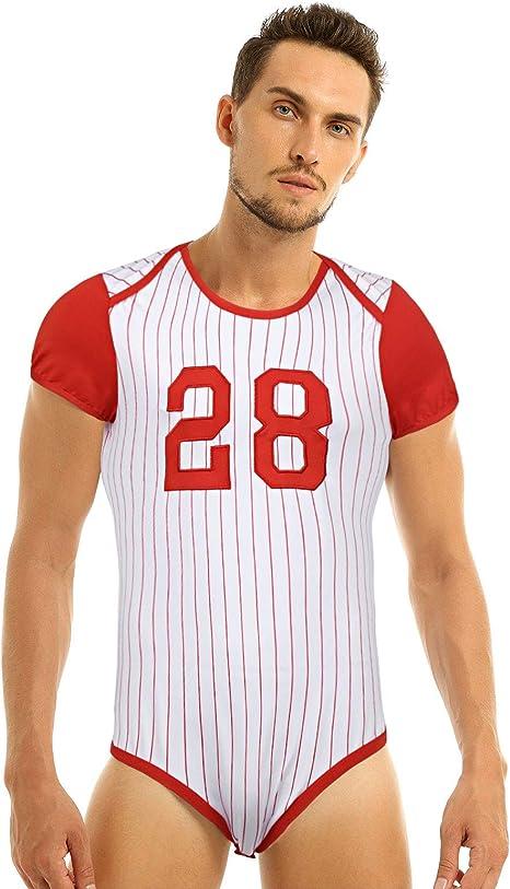 iiniim Mono Deportivo para Hombre Adulto Bebé Maillot Manga Corta Camiseta Body a Rayas Sexy Conjunto de Lenceria Pijama Ropa Interior Bodysuit: Amazon.es: Ropa y accesorios